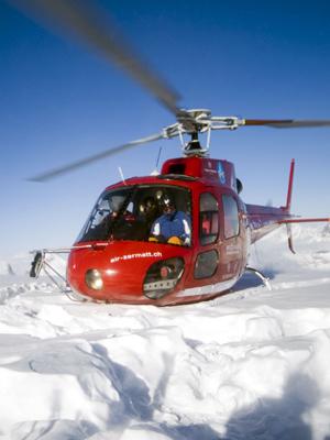 Heliboarding-Bergführer Snowboardlehrer Zermatt
