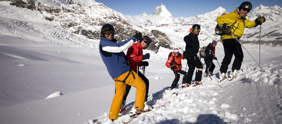 Heliskiing-Bergführer Skiführer Zermatt