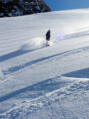 Freeride-Bergführer Snowboardlehrer Zermatt
