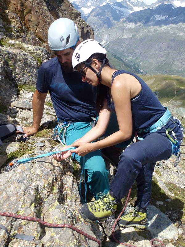 Rock Climbing Training-Mountain Guide Zermatt